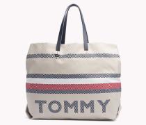 Tote-Bag aus Stoff mit Tommy-Streifen