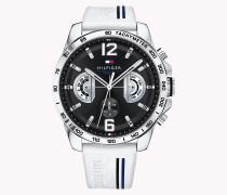 Armbanduhr aus Edelstahl im Motorsport-Look