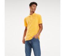 Poloshirt mit Garment-Dyeing