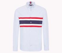 Oxford-Hemd mit einem Streifen