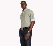 Slim Fit Shirt mit Sechseckprint