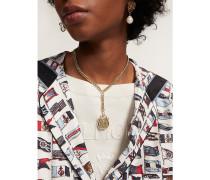 Vergoldete Halskette mit THC-Wappen