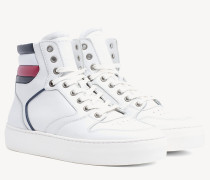 High-Top Ledersneaker mit Cupsole