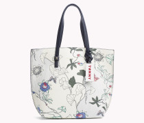 Große florale Tote-Bag