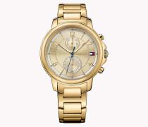 Armbanduhr aus Edelstahl in Gold