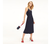 Wickel-Kleid mit V-Ausschnitt