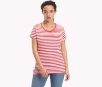 Gestreiftes T-Shirt aus Baumwoll-Leinen-Mix