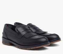 Leder-Loafer mit Fransen
