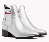 Niedriger Chelsea-Boot in Metallic Optik