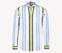 Baumwoll-Hemd mit mehrfarbigen Streifen