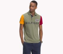 Slim Fit Poloshirt in Blockfarben