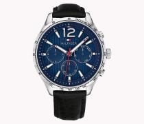 Runde Armbanduhr mit Tachymeter