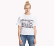 T-Shirt mit Cheerleader-Fotoprint