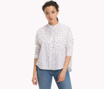 Oversized Hemd mit geometrischem Print