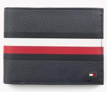 Strukturierte Brieftasche mit Tommy-Streifen