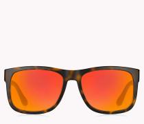 Rechteckige Sonnenbrille mit getönten Gläsern
