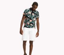 Slim Fit Poloshirt mit Blumenprint