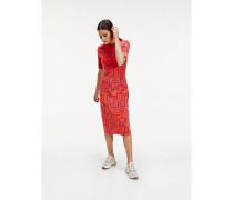 Slim Fit Kleid mit Seilprint
