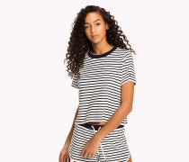 Lounge-T-Shirt mit Streifendruck