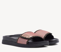 Glitzernde Riemen-Sandale