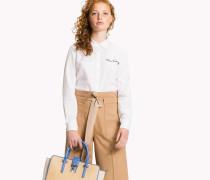 Besticktes Hemd aus Oxford-Baumwolle