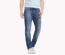 Tapered Slim Fit Jeans aus Denim