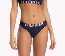 Bikinihose mit kontrastierendem Taillenbund