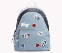 Canvas-Rucksack mit Blumenprint