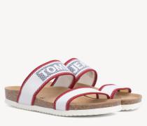 Flache Sandale mit Tech-Mesh