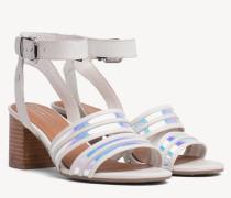 Sandale mit schillernden Riemen
