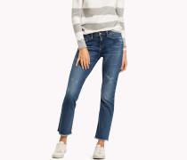 Knöchellange Straight Fit Jeans