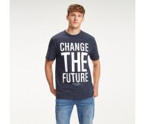 T-Shirt mit Oversize-Slogan