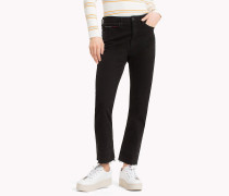 Cropped Straight Leg Fit Jeans