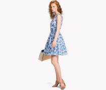 Figurbetontes Kleid mit Blumenprint