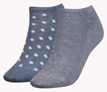 Doppelpack Socken mit dezentem Muster oder Pünktchen