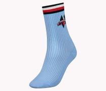 Einzelpack Socken mit einem gestreiften Patch