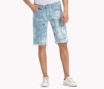 Denim-Shorts mit Acid Wash-Effekt