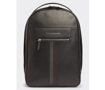 Business Leather Rucksack mit Logo