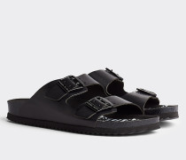 Sandale mit Print auf Fußbett