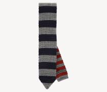 Gestreifte Wende-Krawatte aus Wolle