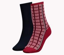 Socken mit Hahnentrittkaro im Doppelpack