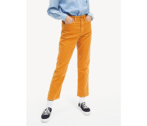 Cropped Straight Fit Cord-Hose