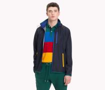 Jacke mit kontrastierenden Reißverschlüssen