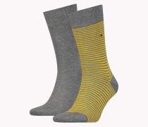 Socken mit schmalen Streifen im Doppelpack