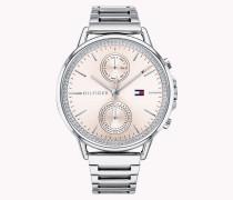 Hübsche Armbanduhr aus Edelstahl