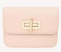 Leder-Brieftasche mit Drehverschluss