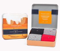 Viererpack Socken mit Print in einer Geschenkbox