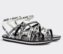 Riemchen-Sandale mit Logoprint