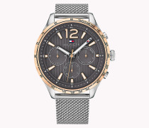 Tachymeter-Uhr mit Mesh-Armband