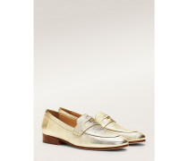 Loafer mit Metallic Wappen